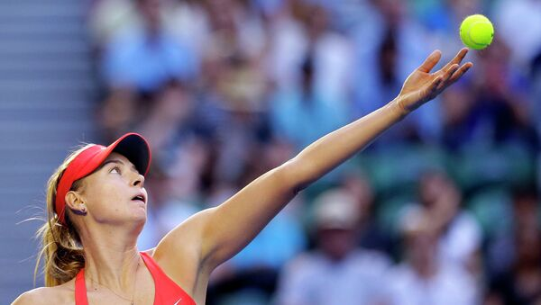 Российская теннисистка Мария Шарапова на Australian Open 2015