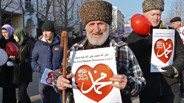 Акция протеста против публикаций, оскорбляющих пророка Мухаммеда
