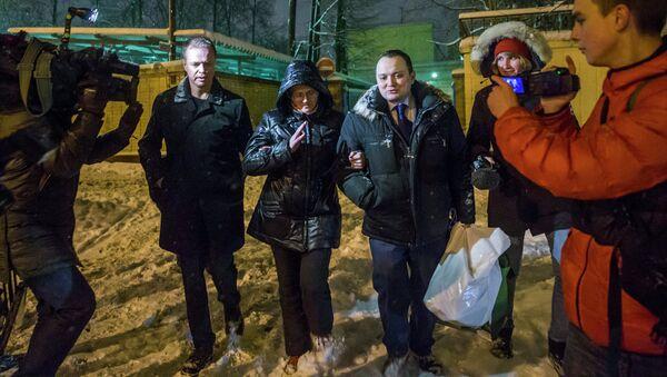 Светлана Давыдова после освобождения из СИЗО Лефортово в Москве