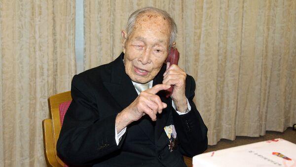 Самый пожилой мужчина на Земле, японец Сакари Момои