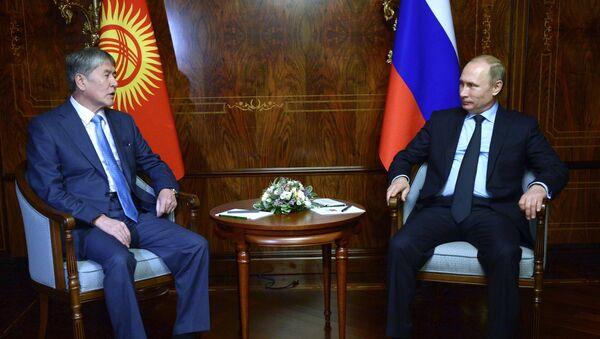 Владимир Путин Алмазбек Атамбаев, архивное фото