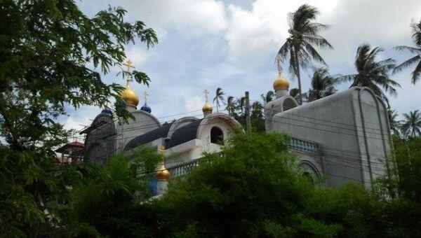 Храм во имя Царственных Страстотерпцев в городе Хуа Хин в Таиланде