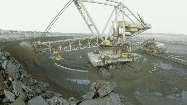 Добыча бурого угля роторным экскаватором