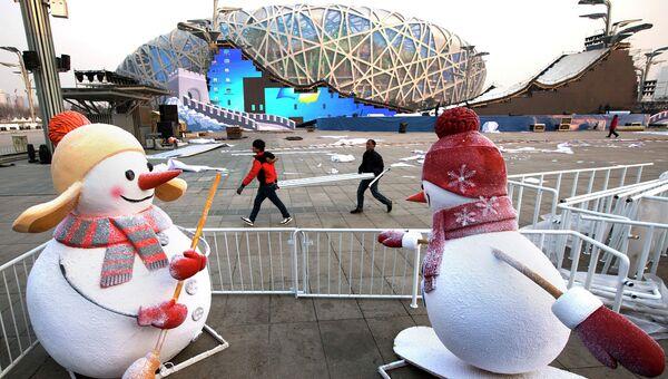 Национальный стадион Птичье гнездо в Пекине, Китай