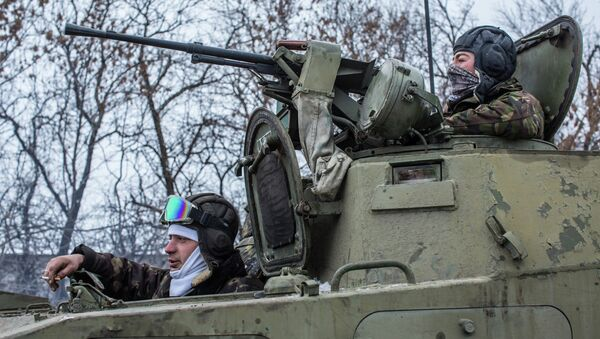Украинские военнослужащие рядом с Дебальцево. Архивное фото