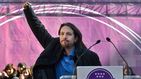 Лидер испанской оппозиционной партии Мы можем (Podemos) Пабло Иглесиас. Архивное фото