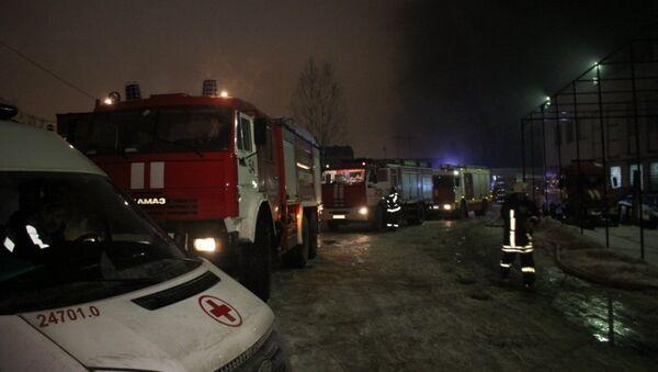 Пожар в Санкт-Петербурге. Архивное фото
