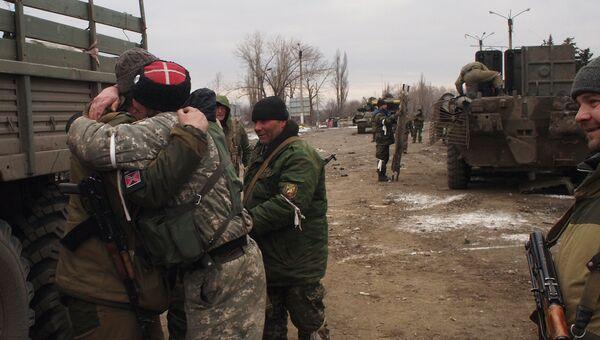 Бойцы ополчения ДНР в Дебальцево. Архивное фото