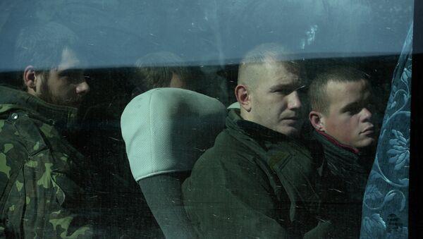 Украинские военнопленные во время обмена. Архивное фото