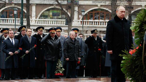 Президент России Владимир Путин возложил венок к Могиле Неизвестного Солдата
