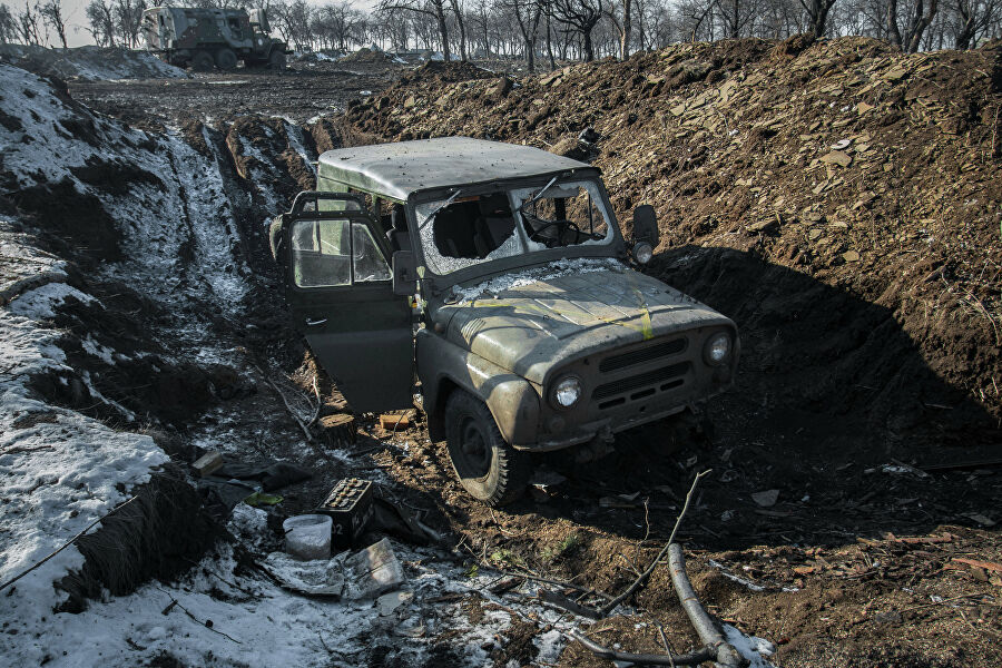 Бывшая укрепленная военная база украинской армии в Дебальцево