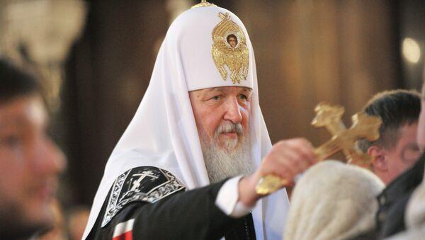 Патриарх Московский и всея Руси Кирилл, архивное фото