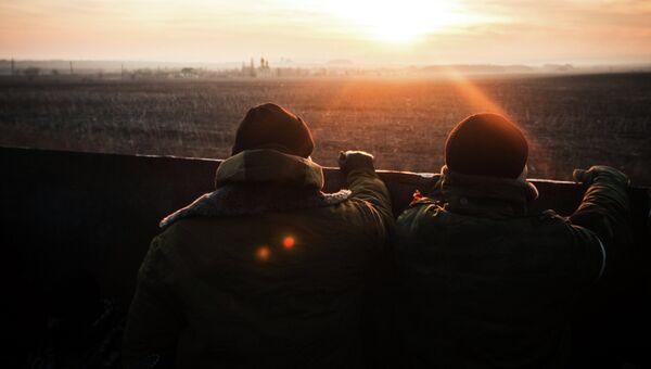 Ополченцы ДНР в Донецкой области, архивное фото
