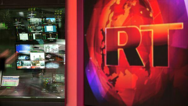 Аппаратная ньюсрума телеканала RT. Архивное фото