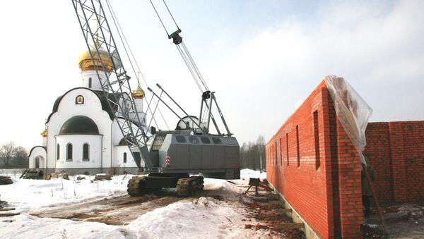 Строительство Спасо-Богородицкого Одигитриевского женского монастыря на Вяземском ратном поле.