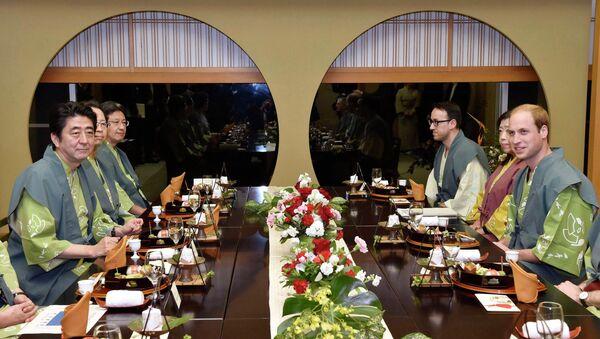Принц Уильям во время визита в Японию, 28 февраля 2015