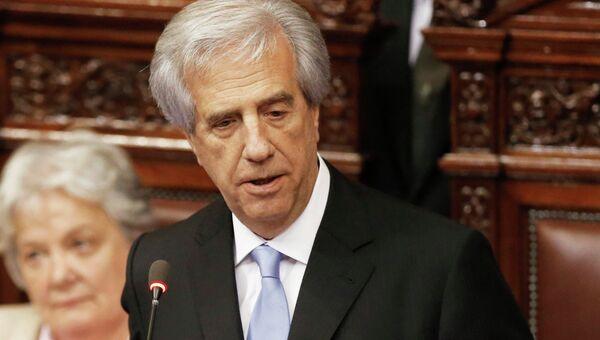 Президент Уругвая Табаре Васкес во время инаугурации