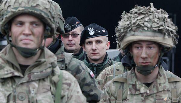Солдаты НАТО на учениях в Польше. Архивное фото