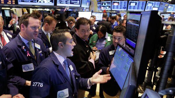 Работа Нью-Йоркской фондовой биржи