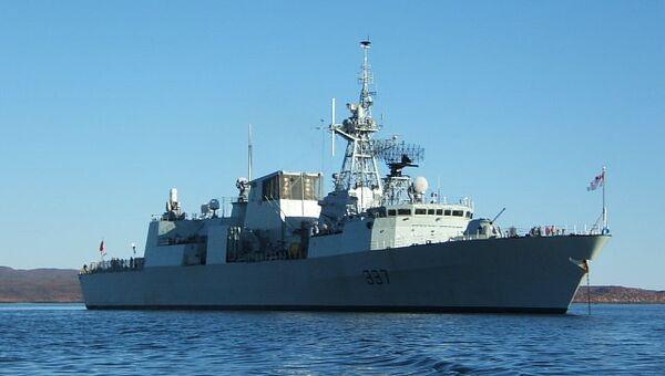 Канадский фрегат Фредериктон. Архивное фото