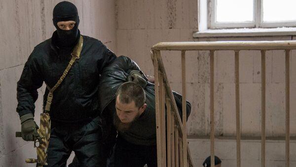 Подозреваемый в убийстве политика Бориса Немцова Тамерлан Эскерханов. Архивное фото