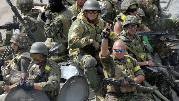 Украинские военные в Константиновке. Архивное фото