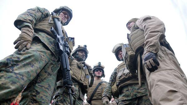 Американские и эстонские военные. Архивное фото