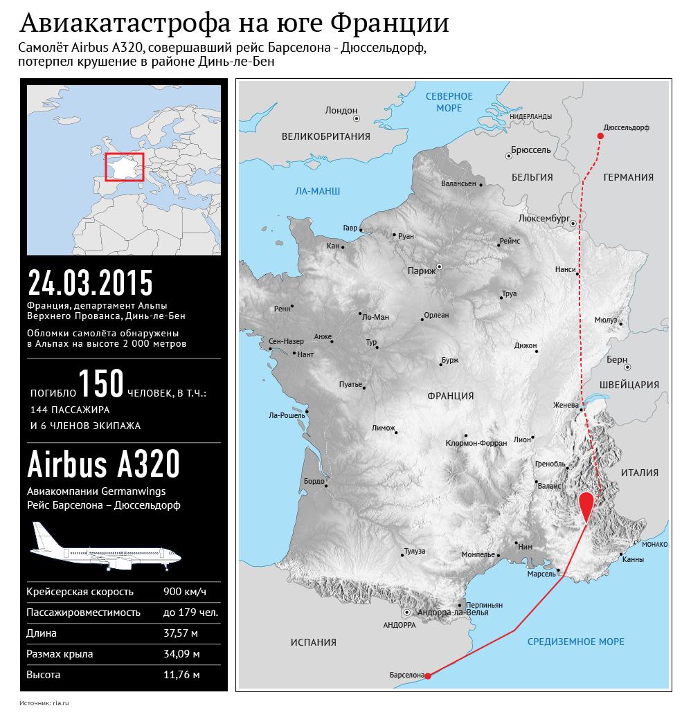Авиакатастрофа на юге Франции
