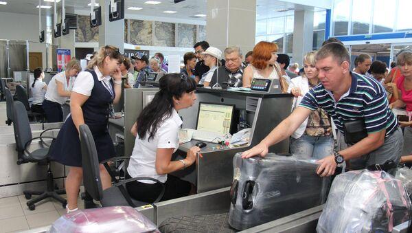 Аэропорт Симферополя встречает миллионного туриста