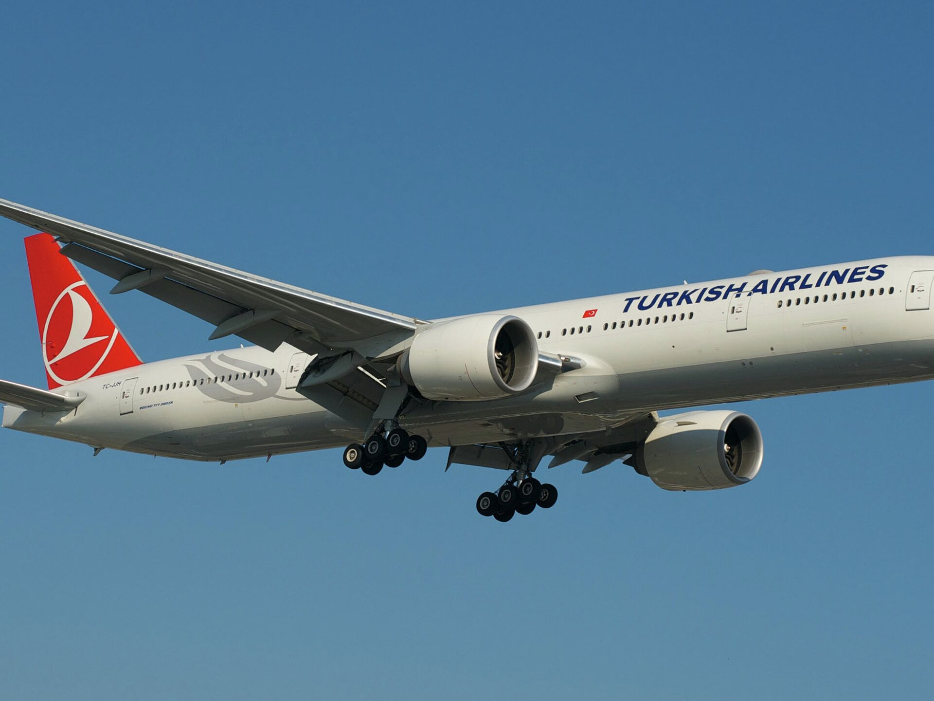 Обои Turkish airlines, В полете, boeing-777, Самолёт. Авиация foto 11