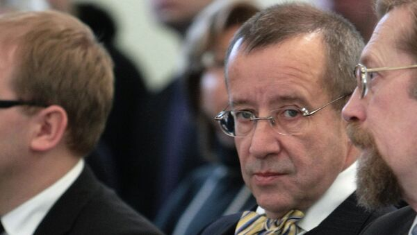 Президент Эстонии Тоомас Хендрик Ильвес, архивное фото