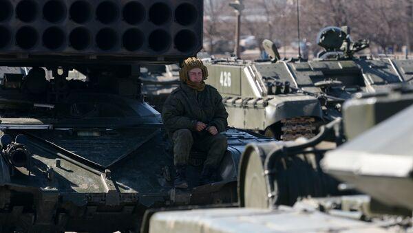 Военнослужащий российской армии. Архивное фото
