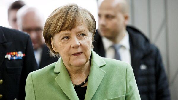 Федеральный канцлер Германии Ангела Меркель во время визита в Хельсинки