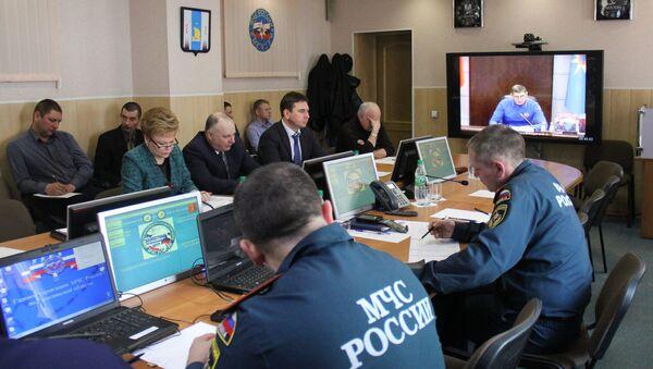 Представители Сахалинской области участвуют в селекторном режиме в заседании Правительственной комиссии по спасательной операции в Охотском море