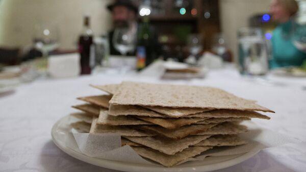 Ритуальная семейная трапеза во время праздника Песах