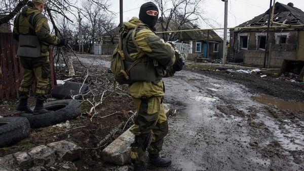 Ополченцы ДНР на окраине Донецка. Архивное фото