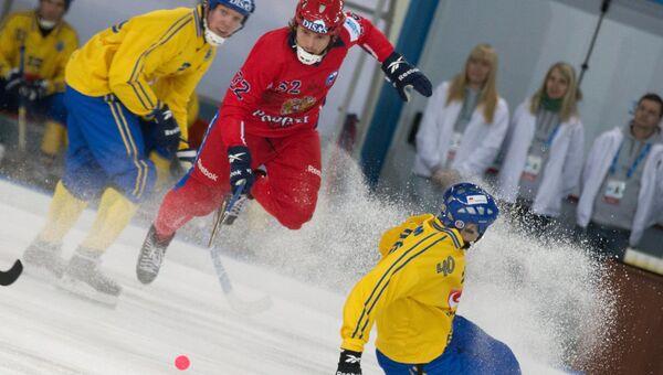 Бенди. Чемпионат Мира. Матч Россия - Швеция