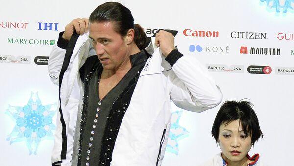 Юко Кавагути и Александр Смирнов (Россия) после выступления. Архивное фото