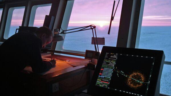 Оборудование на мостике ледокола