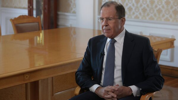 Интервью главы МИД РФ С.Лаврова. Архивное фото