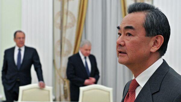 Министр иностранных дел Китая Ван И в Москве. Архивное фото