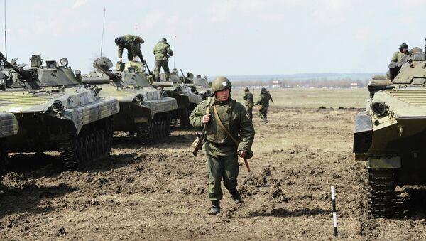 Учения Внутренних войск МВД на Кадамовском полигоне в Ростовской области