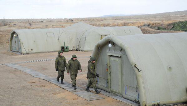 Военнослужащие во время учений на местности в Забайкальском крае. Архивное фото