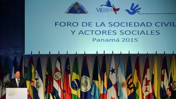Открытие Форума гражданского общества в Панаме