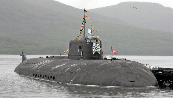 Атомная подводная лодка проекта 949А Антей Тверь в Вилючинске. Архивное фото