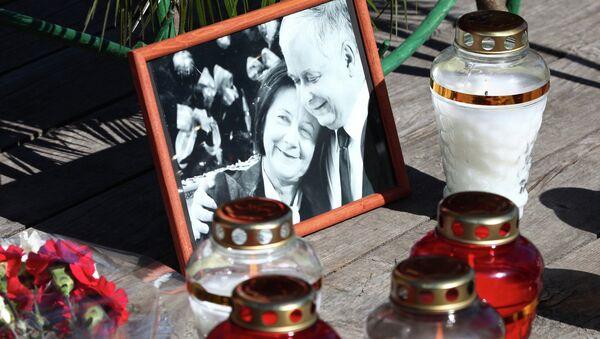 Траурное мероприятие, посвященное пятой годовщине со дня авиакатастрофы польского самолета Ту-154 под Смоленском. Архивное фото