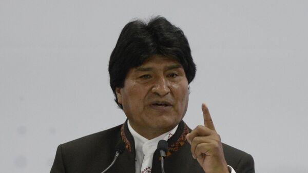 Боливиарский президент Эво Моралес, архивное фото