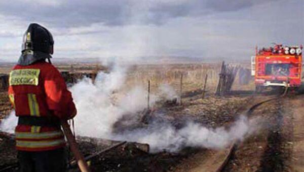 Тушение пожара в Хакасии. Архивное фото