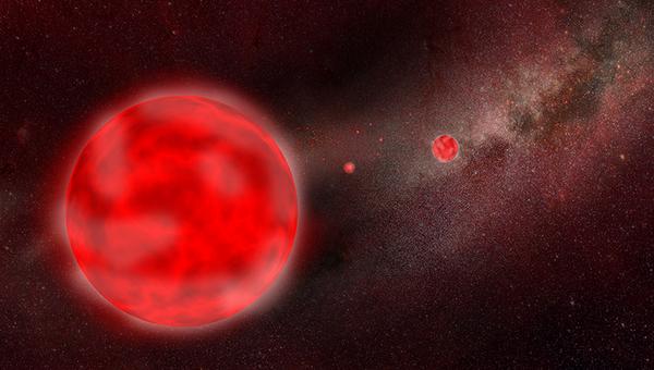 Так художник представил себе звезду – красного гиганта