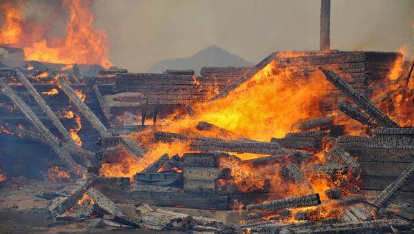 Пожары в Забайкальском крае. Архивное фото